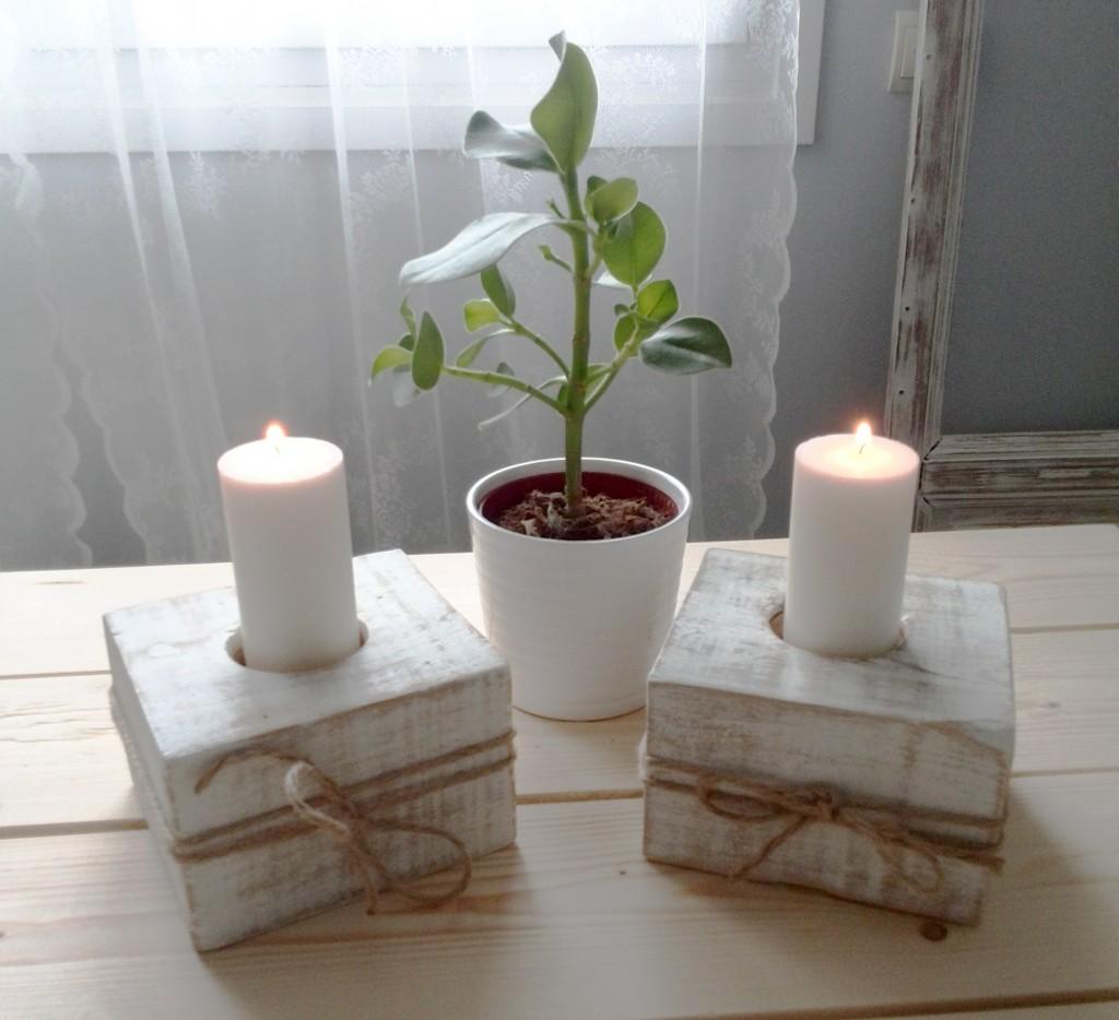 Porta velas con madera de palets la fabriquilla - Jardineras con palets de madera ...